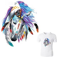 10pcs/lot Horse Patches For Jeans Fashion Clothes Stickers Iron On Patches A-level Washable Heat Press Appliqued цена