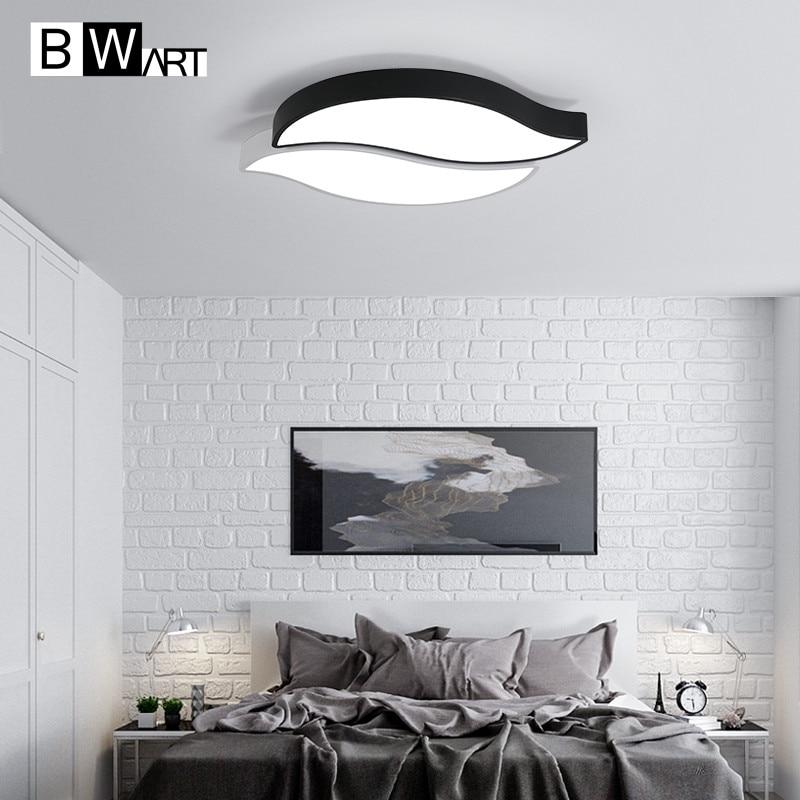 Bwart Moderne Led-deckenleuchten Für Wohnzimmer Kinder Zimmer Schlafzimmer Kreative Design Schwarz Und Weiß Remote Decke Lampe Zy150 Kann Wiederholt Umgeformt Werden. Licht & Beleuchtung
