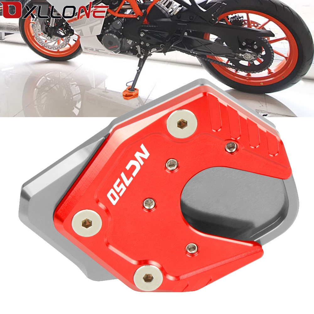 Motorcycle CNC Aluminum Moto Foot Side Stand Enlarger Kickstand Enlarge Plate Pad Extension For Honda NC750X/S 2017 2019|Stands| |  - title=