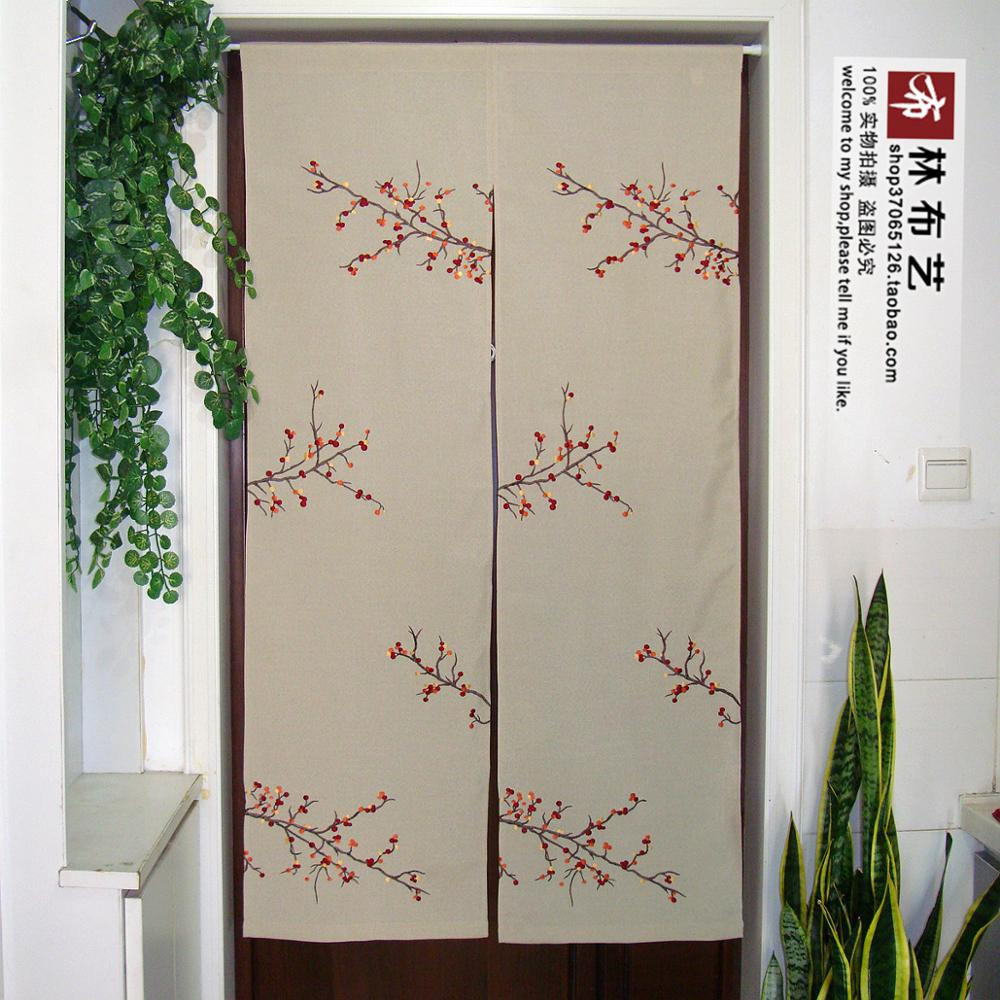 Nice Curtains Japanese modern embroidery door curtain Feng ... on Modern Feng Shui Garden  id=28125