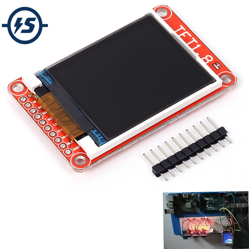 1.8 1.8 Inch TFT LCD Screen ST7735 128x160 Dot Matrix Support Micro SD Card for Arduino Micro SD TFT LCD Display 3.3V 5V
