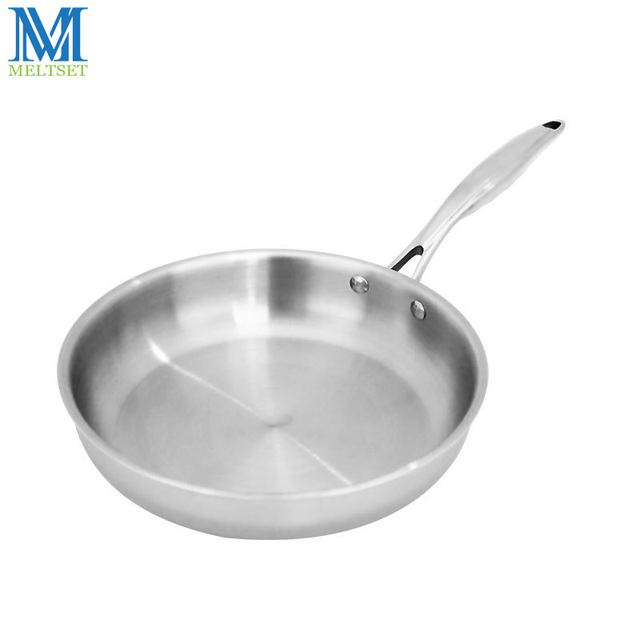 Meltset Stainless Steel Frying Pan Uncoated Non Stick Skillet Pan ...