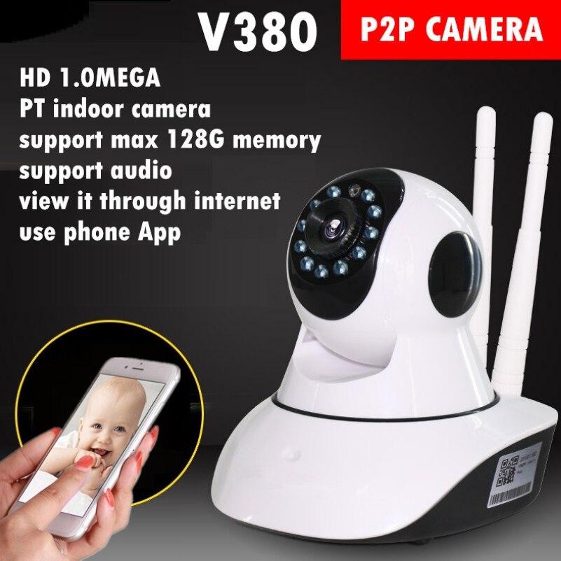 imágenes para Home cámaras de Seguridad Ip Inalámbrica Mini Cámara de Vigilancia en red Wifi 720 P de Visión Nocturna CCTV Cámara Baby Monitor v380