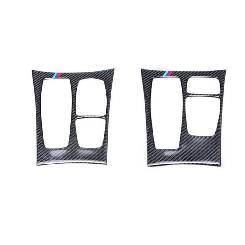 Ipoboo  Real Carbon Fiber Center Console Decal Protection Pad For BMW X5 E70 X6 E71 накладки на пороги bmw x5 ii e70 2006 carbon