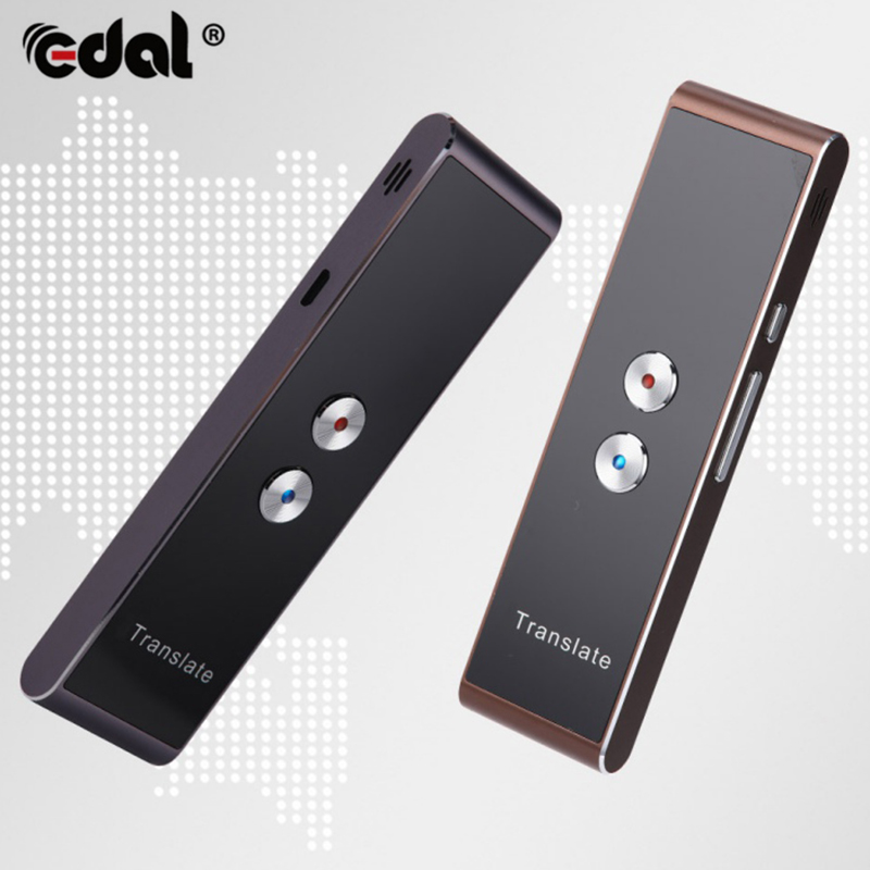EDAL Portable Smart Speech Translator Two-Way Real Time 30 Multi-Language Translation For Learning Travelling Business Meeting image
