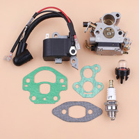 Carburetor Ignition Coil Module Magneto Kit Fit Husqvarna 240 236 235 Chainsaw Parts Zama C1T W33 Carb OEM 545199901 586936202