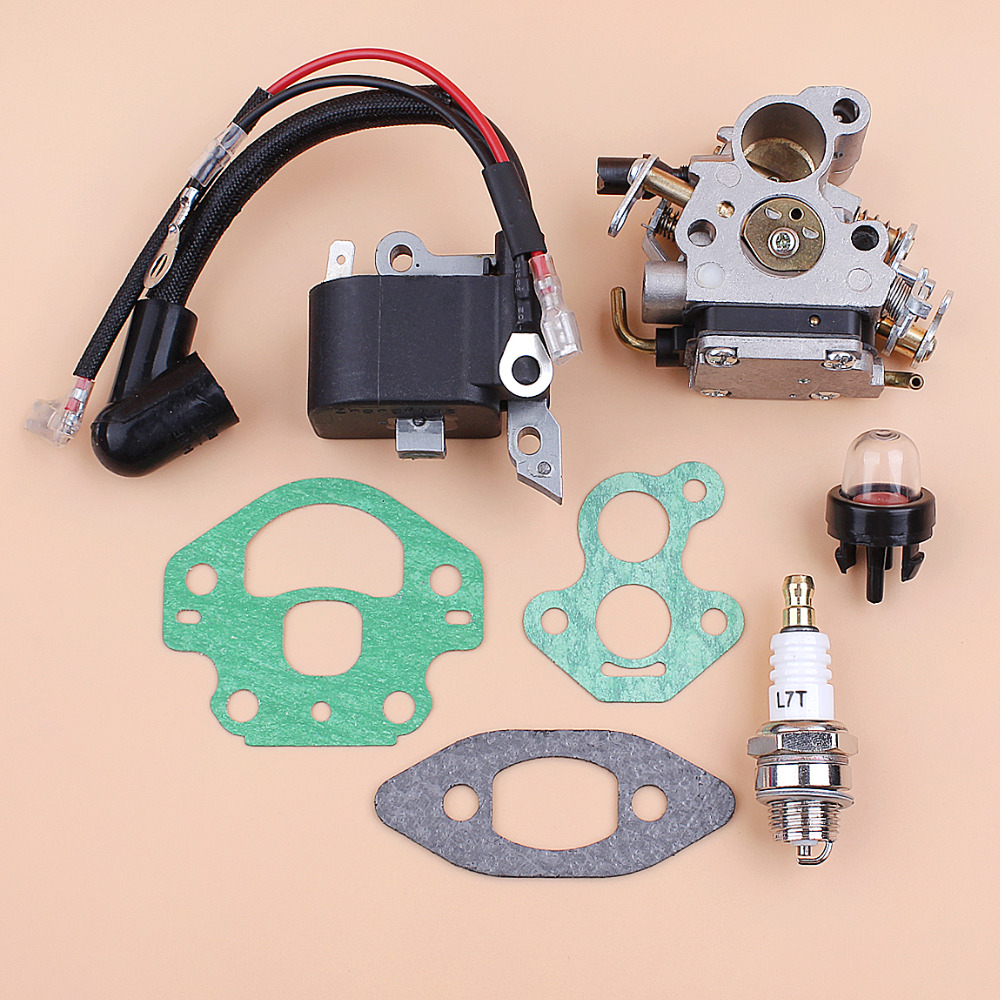 Carburetor Ignition Coil Module Magneto Kit Fit Husqvarna 240 236 235 Chainsaw Parts Zama C1T-W33 Carb OEM 545199901 586936202