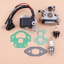 цена на Carburetor Ignition Coil Module Magneto Kit Fit Husqvarna 240 236 235 Chainsaw Parts Zama C1T-W33 Carb OEM 545199901 586936202