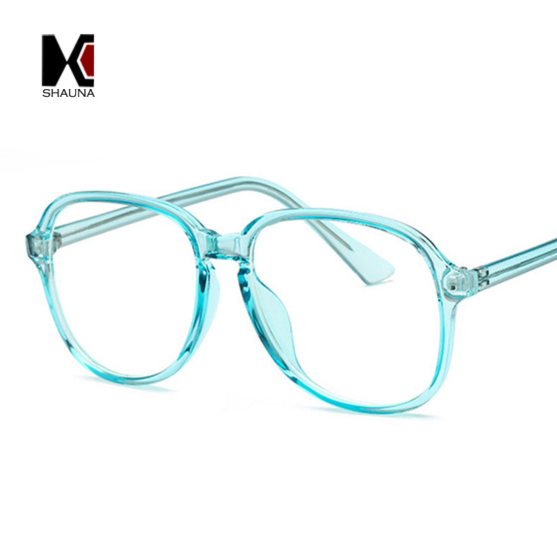 c83ce842339 SHAUNA Fashion Candy Colors Women Glasses Frame Stainless Steel Wire Arm  Retro Men Optical Eyeglasses