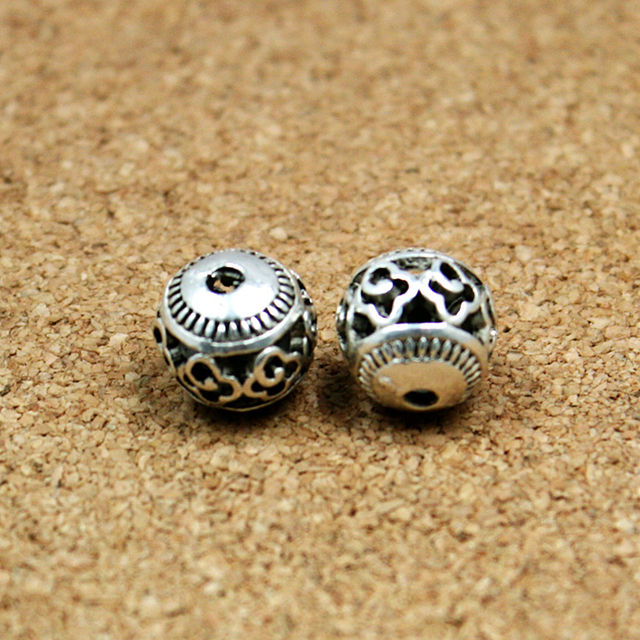 New Fashion 10pcs/lot 11mm Antique Silver Plated Hollow Zinc Alloy Beads New Cha