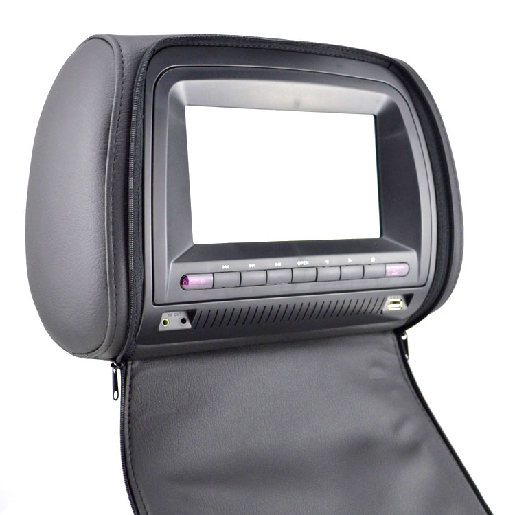 7 inch car headrest dvd player with usb sd ir support fm transmitter wireless game 1 pair