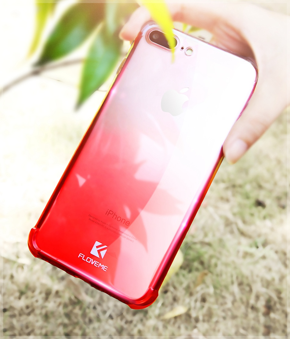360 Degree Protective Gradient Anti Knock Cover Transparent Cases