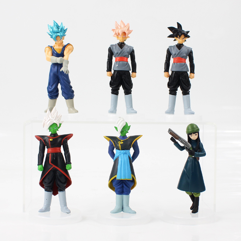 6pcs/lot Dragon Ball Z Figure Toy Son Goku Black Zamasu Mai Super Saiyan Rose Model Doll Anime Gift for Kids-in Action & Toy Figures from Toys & Hobbies
