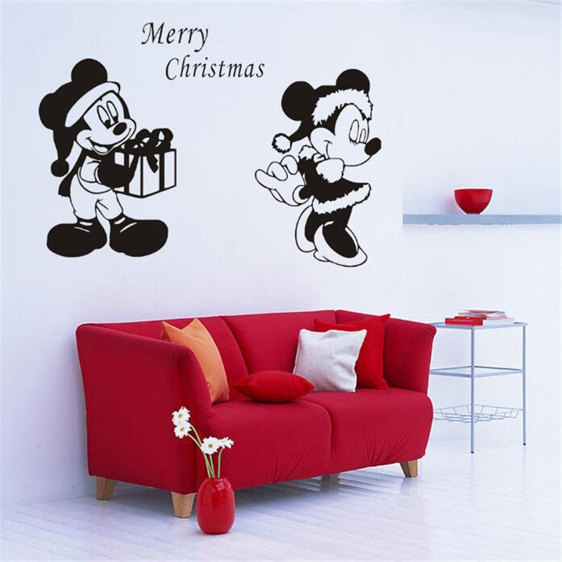 Online Shop IDFIAF Cartoon Mickey Mouse Wall Sticker Kids ...