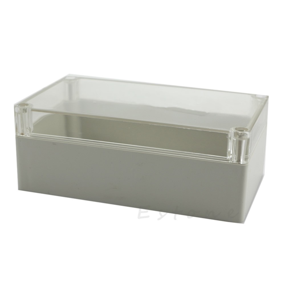 C18 hot 158x90x60mm Waterproof Clear font b Electronic b font Project Cover Box Enclosure Plastic Case