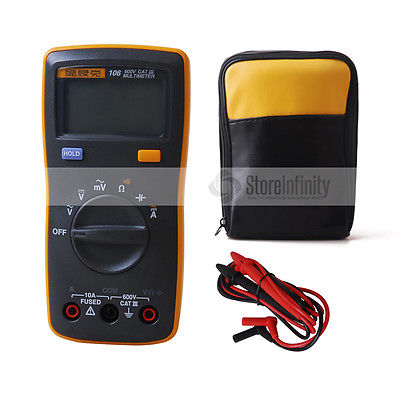 Original <font><b>Fluke</b></font> 106 Handheld Digital Easily Carried mini Multimeter With Soft Case image