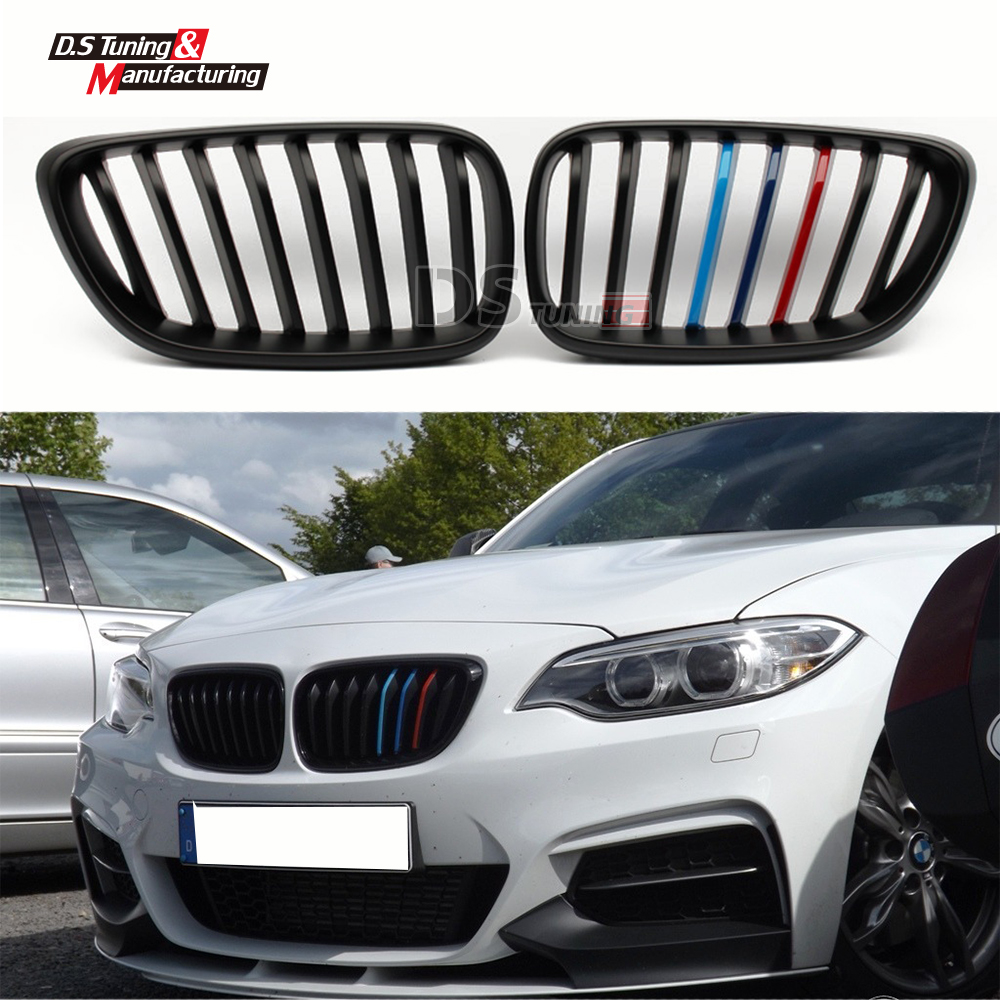 2 Series F22 Front M Colour Bumper Grills Racing Grille For BMW F22 LCI 2014 2015 218i 220i M235i 2 Doors Cabrio Replacement аксессуар frap f22