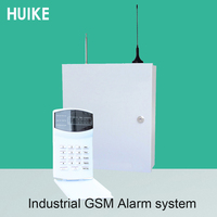 (1 Set) Iron Box Industry Alarm System Wireless 433MHz Remote control LED keypad 16 wireless and 16 wire zones GSM PSTN dual net