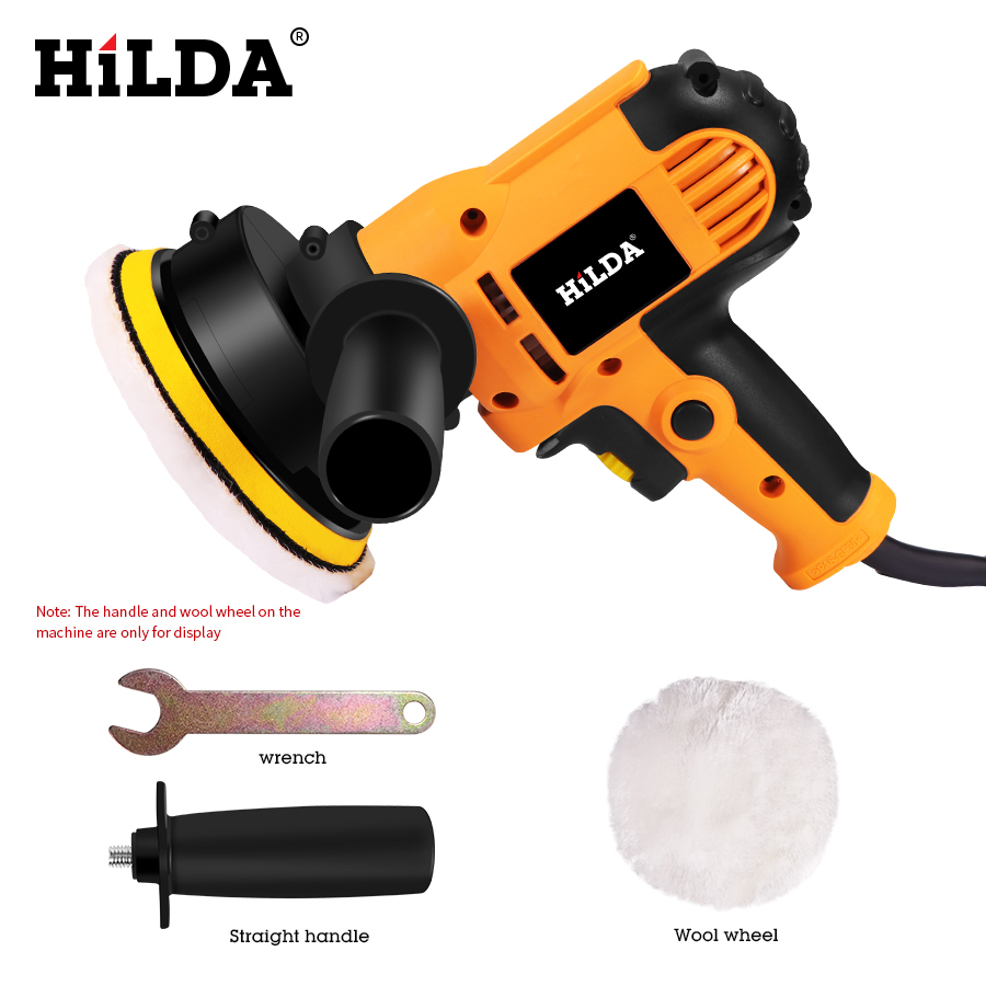 HILDA Car Polisher Machine Auto Polishing Machine Adjustable Speed Sanding Waxing Tools Car Accessories Power Tools
