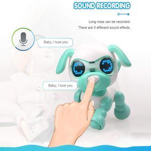 Image 4 - Robô cachorro filhote de cachorro brinquedos para crianças interativas brinquedo presente de aniversário presentes de natal robô brinquedos para a menina do menino