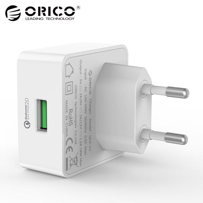 ORICO QC2.0 Rapide Charge Rapide USB Chargeur Mural avec Livraison Micro câble pour pour Samsung S5 S6 LG G4 Xiaomi 3 Rapide chargeur