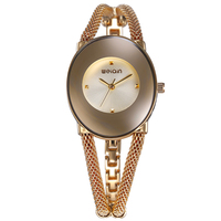 WEIQIN Brand Luxury Ladies Bracelet Watch Women S Dress Creative Design Bracelet Watches Fashion Party Gold