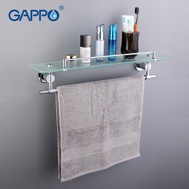 GAPPO Top Quality Wall Mounted Bathroom Shelves Bathroom Glass shelf ...