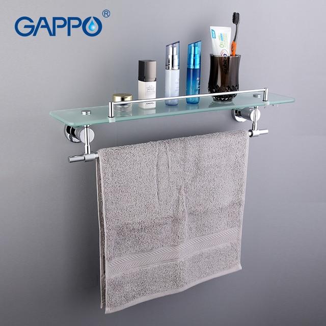 GAPPO Topkwaliteit Wandmontage Badkamer Rekken Badkamer Glazen plank ...
