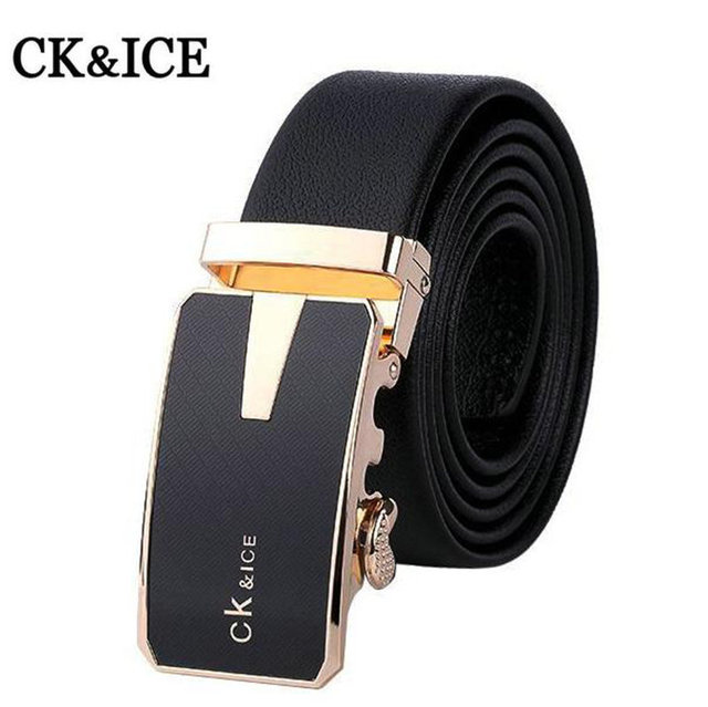 New Style Brand Belts Men High Quality Men's Belts Luxury Automatic Buckle Leather Belts For Men Business Boss Cinturones Hombre