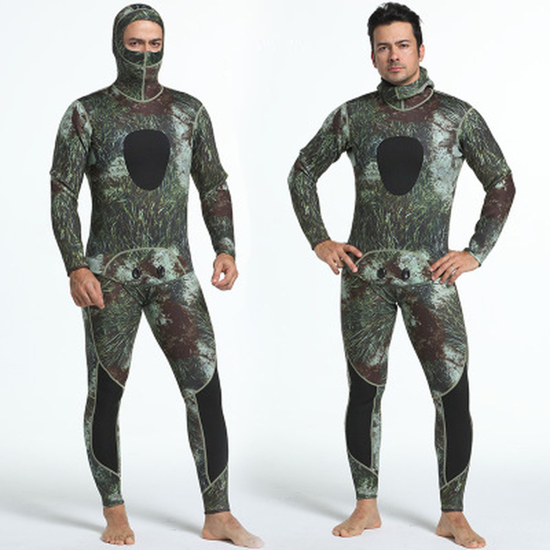 3mm Neoprene Wetsuits Camouflage Two-pieces Keep Warm Diving Wetsuits Swimming Snorkeling Spearfishing Scuba Diving Suits sbart 3mm camouflage neoprene wetsuits swimming snorkeling spearfishing scuba diving suit craftsm scuba keep warm diving wetsuit