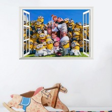 3D  WallPaper Minions for kids room