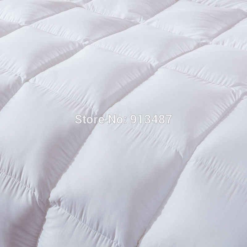 Краткое одноцветное белое розовое зимнее стеганое одеяло утка/гусиный пух пуховые одеяла 40s хлопок постельное белье Твин/королева/король размер одеяло