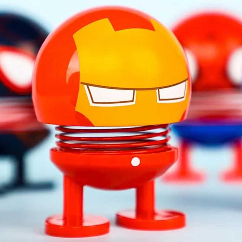 Marvel экшн Фигурки Мстителей эндшпиль Супер Герои Железный человек Халк Капитан Америка качающаяся Весенняя голова фигурка кукол игрушки для детей