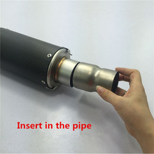 Universal 51-60MM Adapter Modified Exhaust Pipe Silencer With Pipeline Connector For Motorcycle