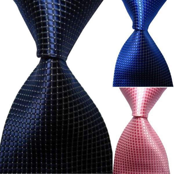 Chic Hot Classic Checks Jacquard Seda tejida Hombres Corbata Corbata - Accesorios para la ropa - foto 4