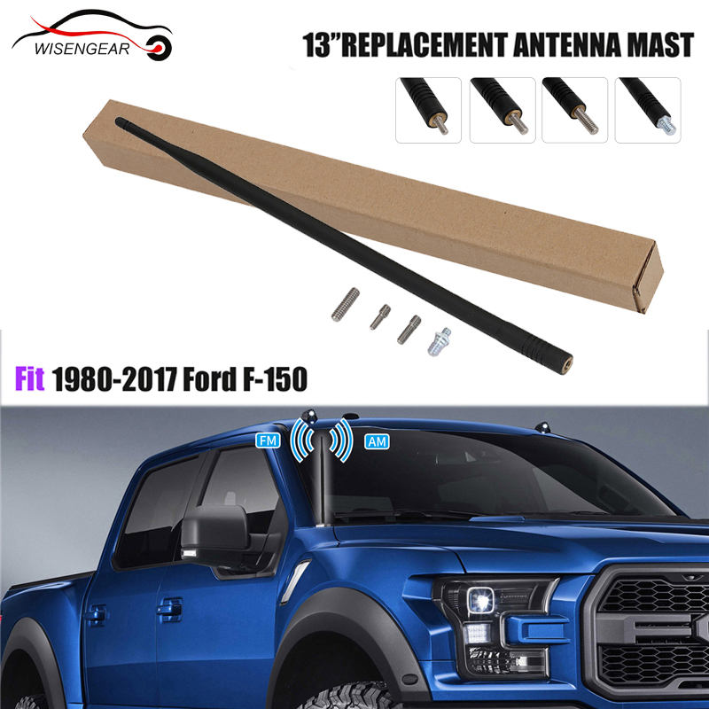 13 Inch For 1980-2017 Ford F-150 Replace Black Antenna AM FM Radio Flexible Mast