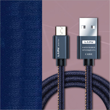 10pcs Micro USB Type C Cable  Durable Denim Braided Sync Data Mobile Phone for iPh 7 6s