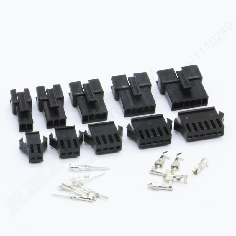 10sets/lot SM 2.54 2P 3P 4P 5P 6P Pitch 2.54 mm male + female socket connector with metal terminal free shipping 100pcs lot 4 8 male and female insulated terminal insert the plug sheathed wire terminal connector 0 2 1mm2