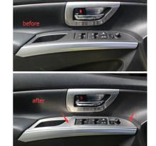 For Suzuki sx4 s-cross 2014 Door Armrest Window Lift Switch Button Cover Trim 4pcs / set