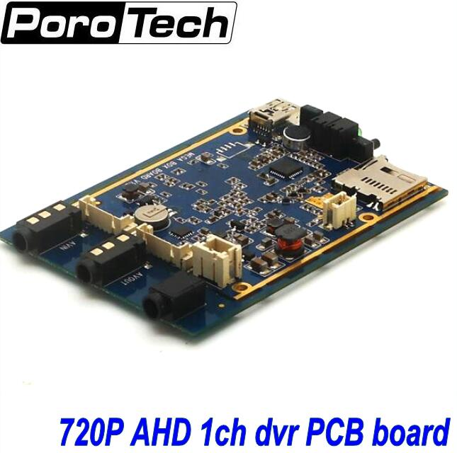 ФОТО OEM 5PCS 1Ch Mini AHD 720P DVR PCB board Car/Bus/Home Used 1 Channel CCTV DVR Motion Detect With Car/CCTV Camera Real-time