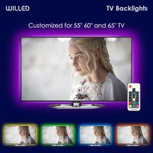 Светодиодная подсветка телевизора RGB USB подсветка для 55 60 65 дюймов 55 ' с дистанционным