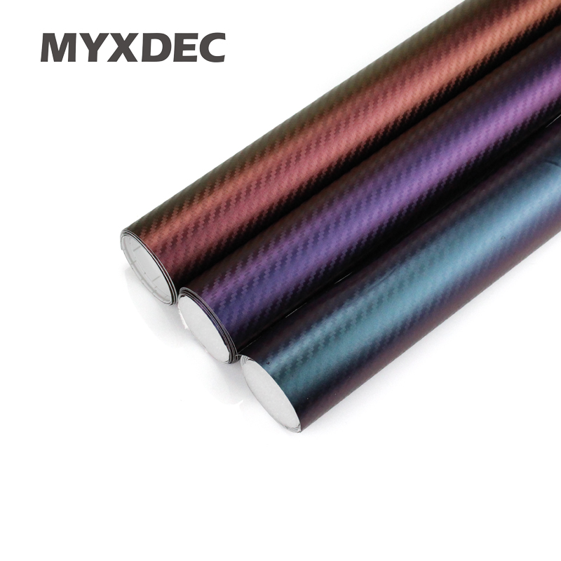 152*30CM 3D Carbon Fiber Vinyl Car Wrapping Foil Motorcycle Car Sticker Decoration Chameleon Stickers For Car Styling fashionable bat style 3d car decoration sticker silver