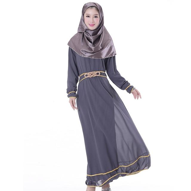 Новый стиль мусульманской одежды одежда для женщин-мусульманок абая плюс размер платье исламская платья кафтаны женщин ferace халат мусульманского 2016