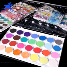 BGLN 12/16/28/36Colors Powder Solid Watercolor Paint Set Bright Color Portable Watercolor Pigment Powder Set For Kids Students