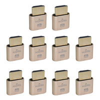 10PCS VGA Virtual Display Adapter HDMI DDC EDID Dummy Plug Headless Ghost Display Emulator Lock Plate