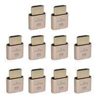 10PCS VGA Virtual Display Adapter HDMI DDC EDID Dummy Plug Headless Ghost Display Emulator Lock Plate