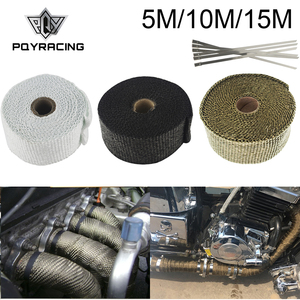 Free Shipping Motorcycle Exhaust Thermal Exhaust Tape Header Heat Wrap Resistant Downpipe For Motorcycle Car Accessories(China)