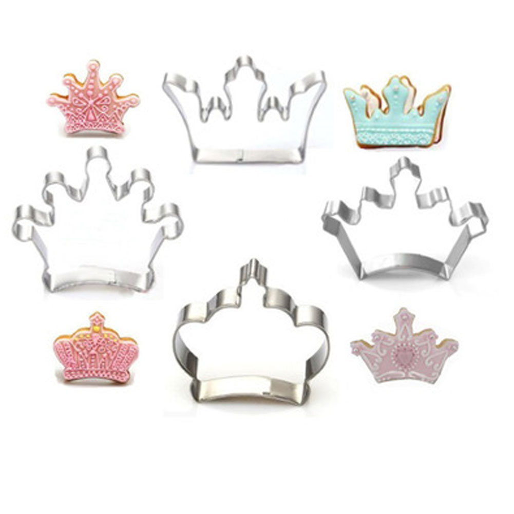 Royal Crown Icing Set Stamp Mold Pancake Biscuit Cookie Cutter Kitchen Tools 2051 Stainl ...