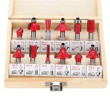 12 Unids 8mm Router Bits Set Vástago de Carburo Tungston Rotatorio de Madera Herramienta de Herramientas de Carpintería Profesional
