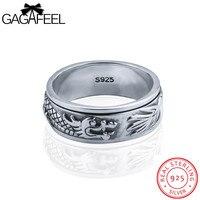 Gagafeel rotatable הדרקון טבעת אצבע תכשיטי גברים 100% זכר כסף סטרלינג אמיתי bijoux אביזרי פאנק רוק גודל 7-12.5